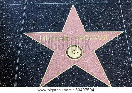 Michael Jackson Star On Hollywood Walk Of Fame In Hollywood