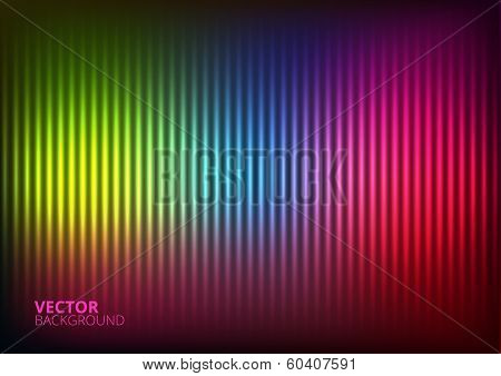Vector Illustration of a Colored  Music Equalizer