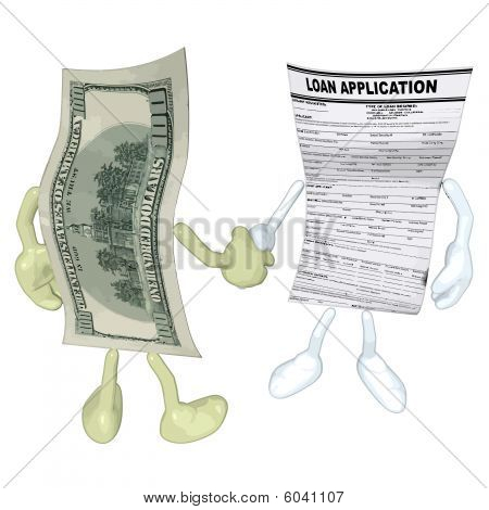Money Loan Application Handshake