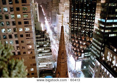 Aerial View: Manhattan East 51st St
