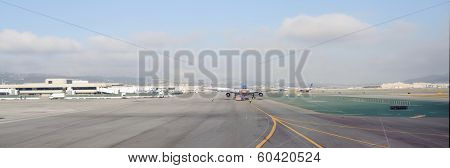 SAN FRANCISCO, USA - OCT 07,2011: San Francisco Airport in San Francisco, USA. The Airport is an international airport located 13 miles south of downtown San Francisco.