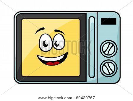 Cute cartoon microwave oven
