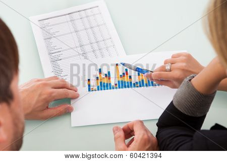 Partners Discussing A Business Graph
