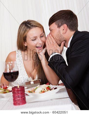 Romantic Lovers Sharing Secrets