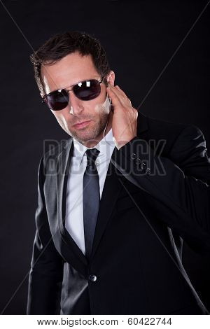 Portrait Of Young Man With Earphone