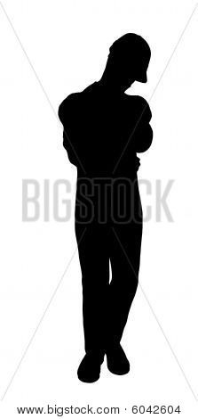Male Construction Worker Illustration Silhouette