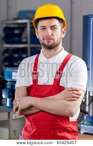 Production Worker In Factory