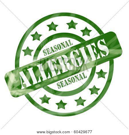 Green Weathered Seasonal Allergies Stamp Circles And Stars