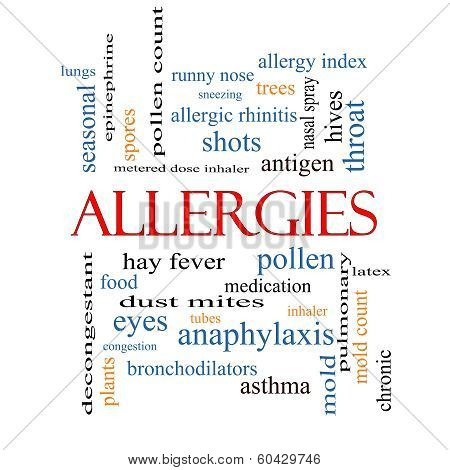Allergies Word Cloud Concept