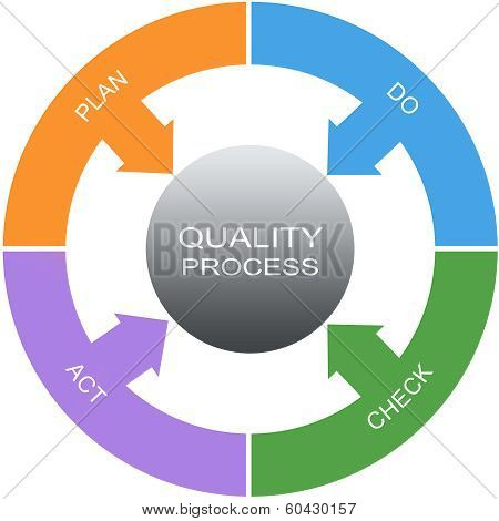 Quality Process Word Circles Concept
