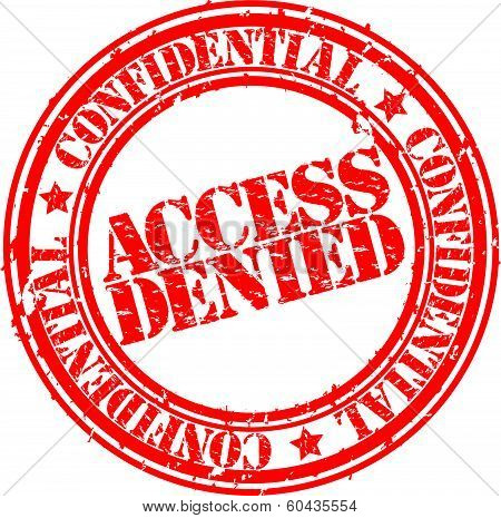 Grunge access denied rubber stamp, vector illustration