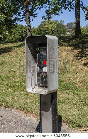 Public Phone In Park