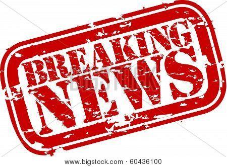 Grunge breaking news rubber stamp,vector illustration