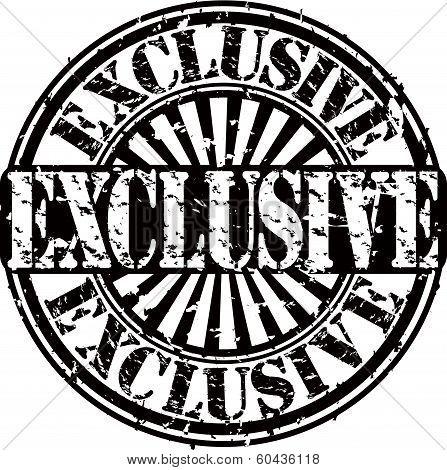 Grunge exclusive stamp, vector illustration
