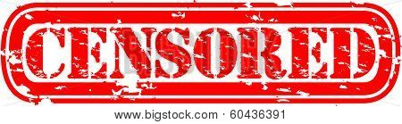 Censored grunge rubber stamp, vector illustration