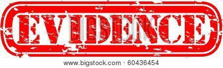Evidence grunge rubber stamp, vector illustration
