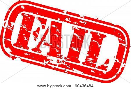 Grunge fail rubber stamp, vector illustration
