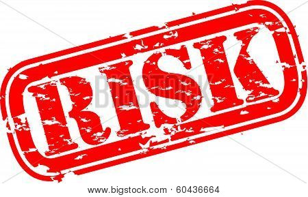 Grunge risk rubber stamp, vector illustration