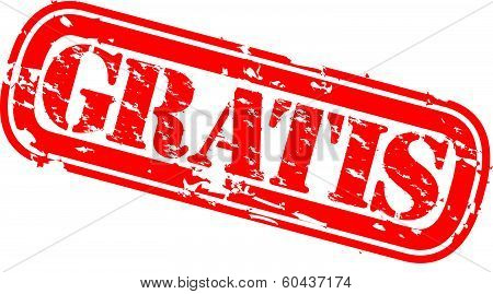 Grunge gratis rubber stamp, vector illustration