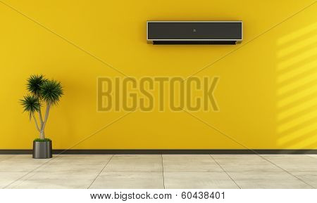Empty Room With Modern Air Conditioner