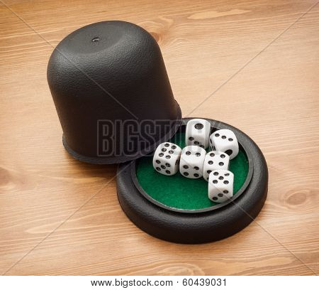 Dices With Cup