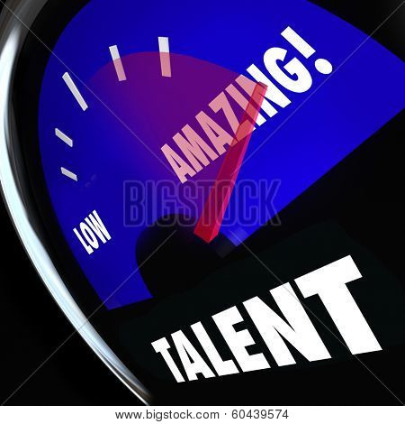 Talent Word Measurement Gauge Rate Your Skills Compare Abilities