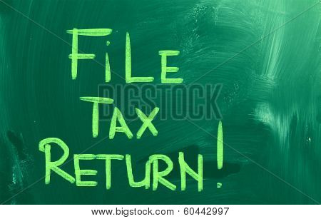 File Tax Return Concept