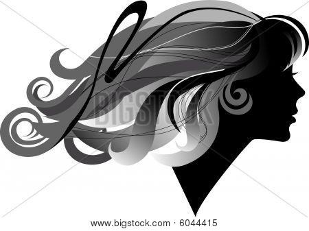 Mädchen mit langen Hair.eps
