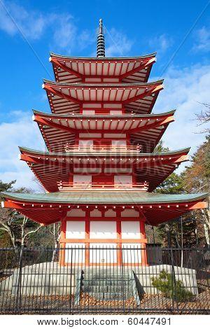 japan red pagoda