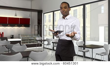 Waiter in a Cafe