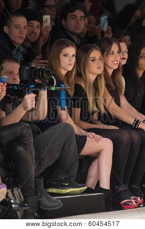 NEW YORK-FEB 8: Actress Anna Kendrick attends the Jill Stuart fashion show during Mercedes-Benz Fashion Week Fall 2014 at Lincoln Center on February 8, 2014 in New York City.