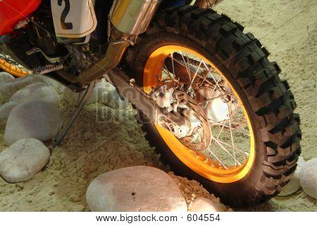 Rear Wheel Of Motorcycle
