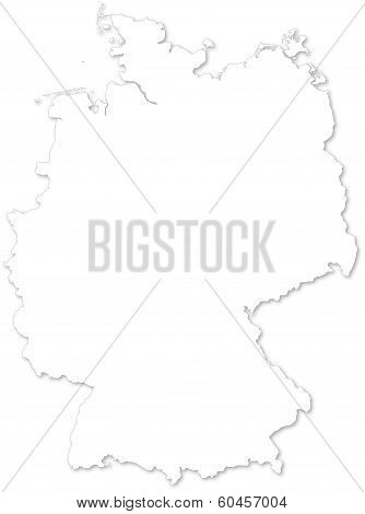 Vector Map Of Germany On White Background.