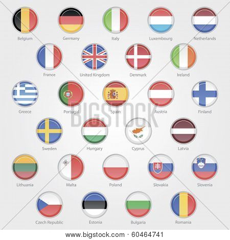 icons depicting the flags of the EU countries