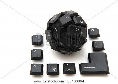 Black Keyboard Sphere