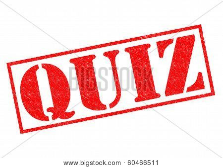 Quiz Rubber Stamp