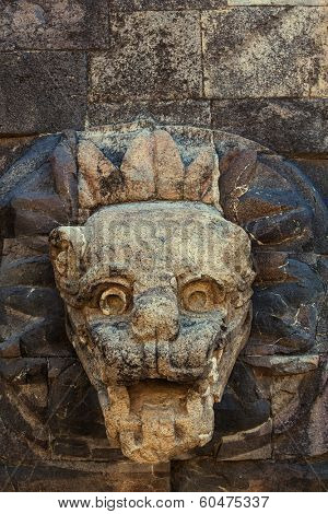 Temple of Quetzalcoatl in the Citadel of Teotihuacan, Mexico