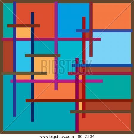 Polychrome frame