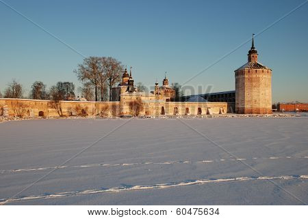 Northern Russian Monastery In Winter