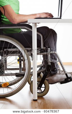Disabled Student During Class