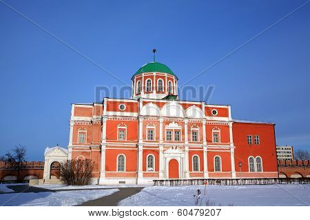 Church of the Epiphany at territory of Kremlin. Tula, Russia