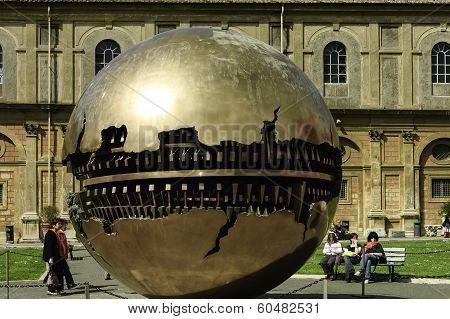 Ball Sculpture On The Inner Court Of Vatican