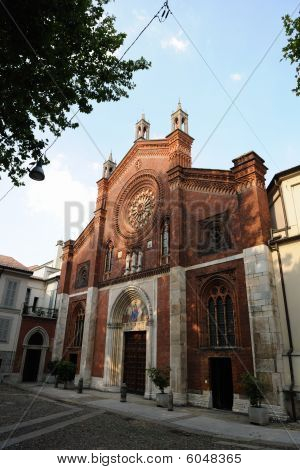 Facade Of San Marco Cathedral, Milan, Lombardy, Italy
