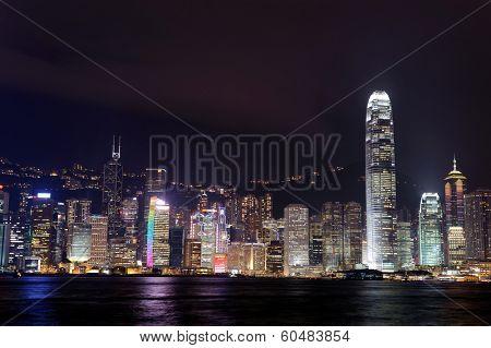 HONG KONG - NOV 10: Hong Kong downtown skyscrapers on November 10, 2011 in Hong Kong, China. Hong Kong alternatively known by its initials H.K., is situated on China's south coast.