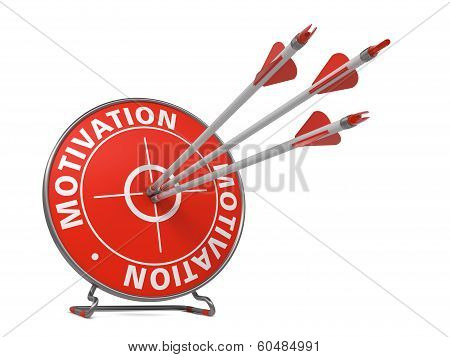 Motivation Concept - Red Target.