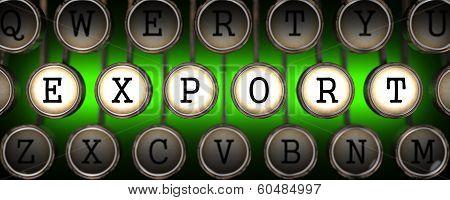Export on Old Typewriter's Keys.