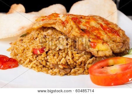 Fried Rice Nasi Goreng Indonesia Traditional Food