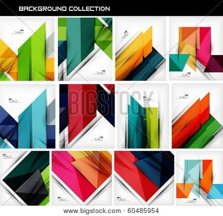 Collection of geometric shape abstract backgrounds. For business background | numbered banners | business lines | graphic website