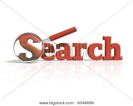 Red 3D Search Icon