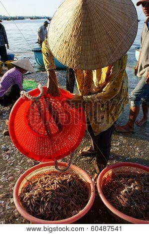 Seafood Market On Beach